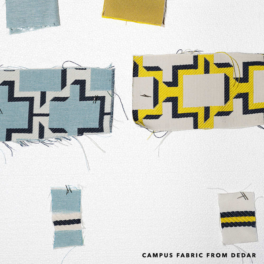 Campus fabric from Dedar